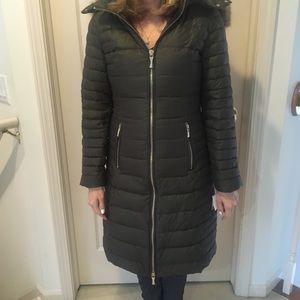 Kate Spade Olive Grove Puffer Coat With Fur Hood